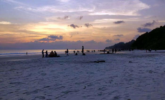 rahul andaman honeymoon beach sunset