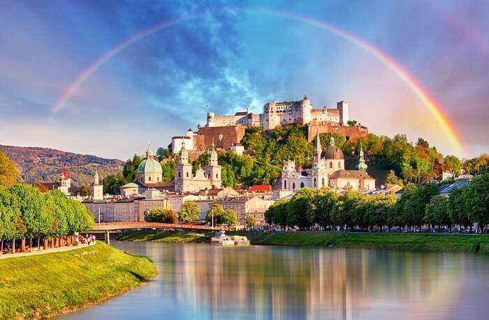 view of salzburg castle