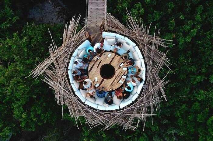 people eating at Azulik Eco Resort