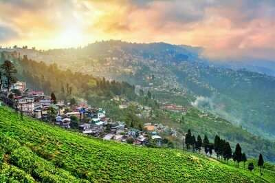 darjeeling rain clouds sunset
