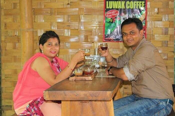 coffee tasting at One Bali Tanah Lot Agrowisata