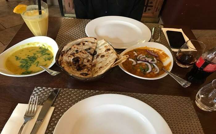 food in Indigo Indian Restaurant