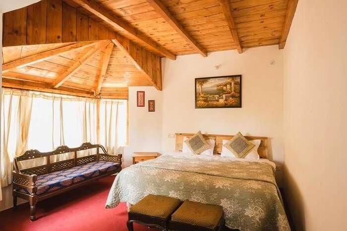 room in frozen woods resort
