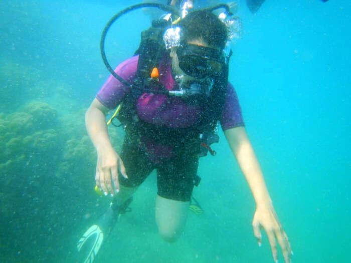 Rahul doing scuba