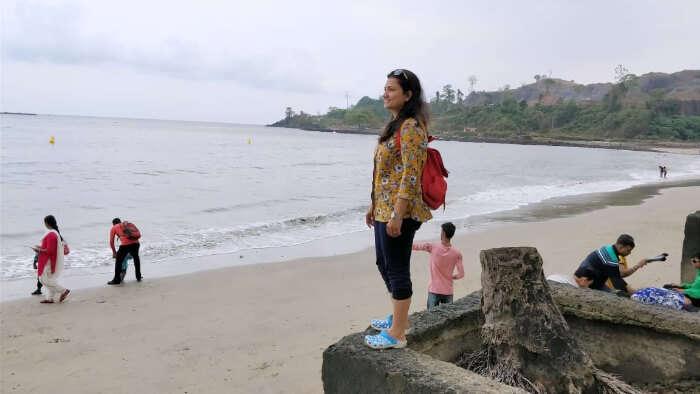 Rahul honeymoon chilling on beach