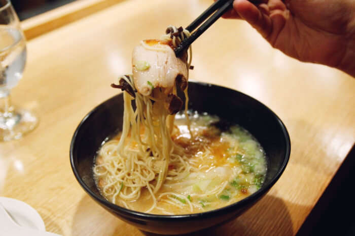 serves mainly Japanese and Asian cuisine