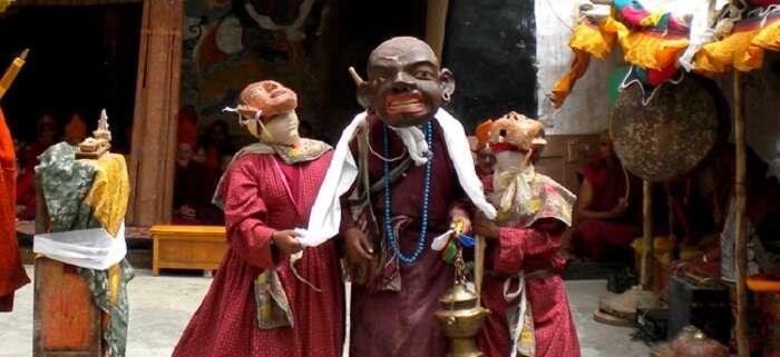 mask dance during karsha gustor