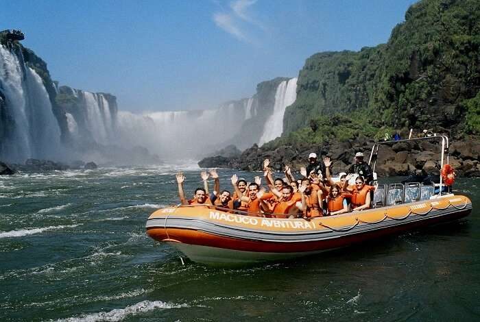 Boat ride in Iguazu river