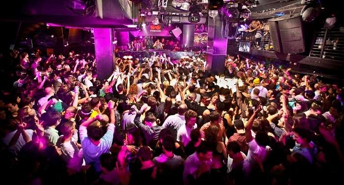 Inside a nightclub
