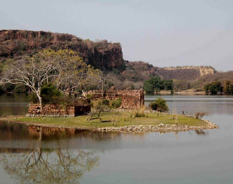 the largest lake in the Ranthambore Wildlife Reserve