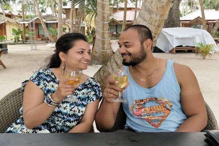 this honeymoon brings peace and rejuvenates his mind