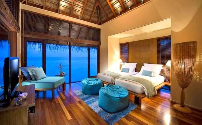 Luxury Rooms in Conrad Maldives Resort