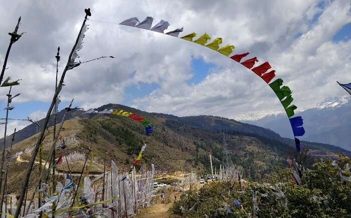 rohit bhutan family trip travelogue prayer flags