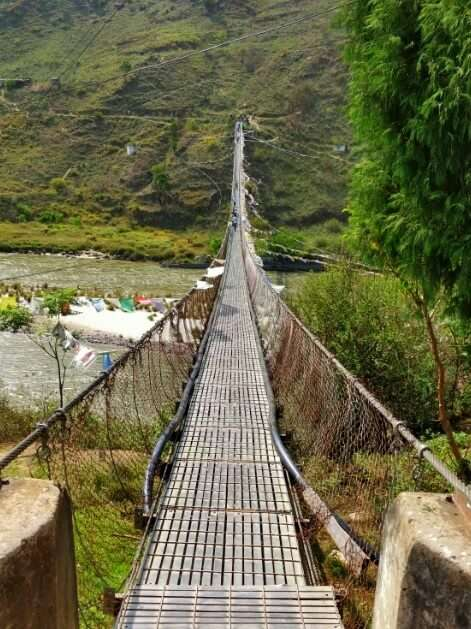 rohit bhutan family trip travelogue suspension bridge