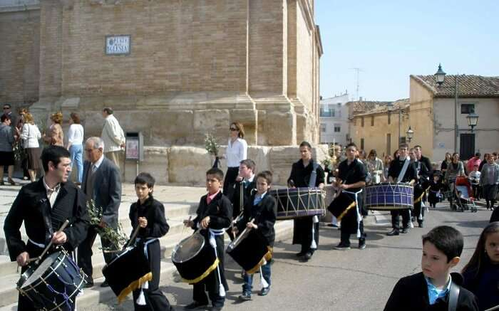 people playing drums in spain