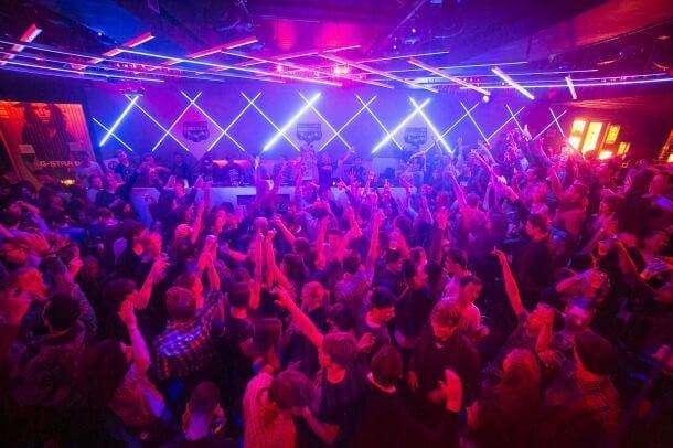 the clubbing scenario in the night is best