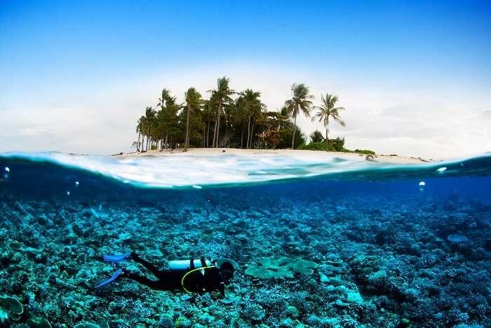 Island of Lombok Near Bali