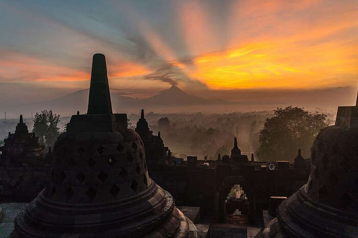 Sunrise from temple