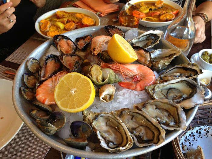 varied seafood