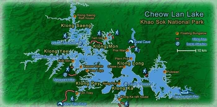 Khao Sok Park Map