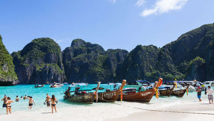 Boats on the Seashore in Krabi