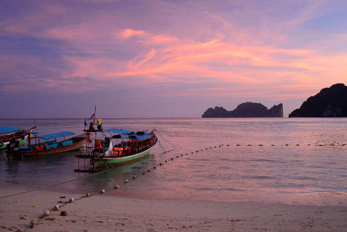 A sunset in Krabi