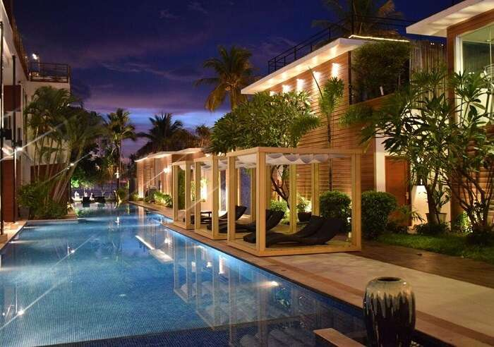 located with luxurious pool villas