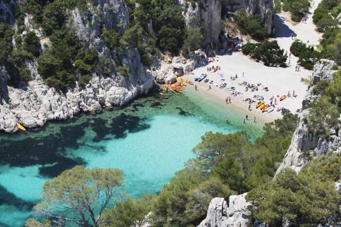 Marseille is a natural wonder beach