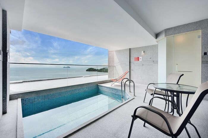 beautiful view of resort