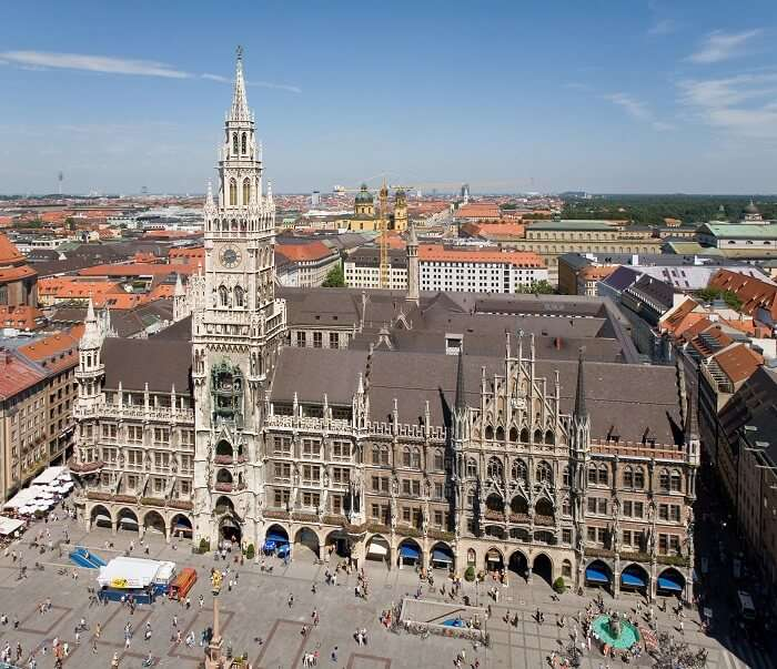 the beautiful historical centre of Munich
