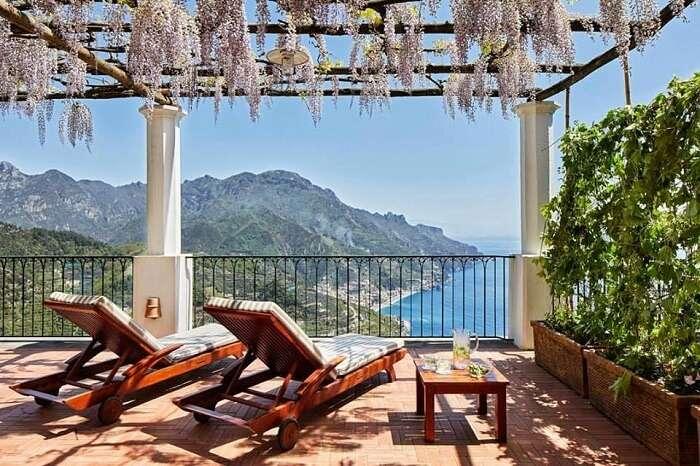 view from palazzo avino