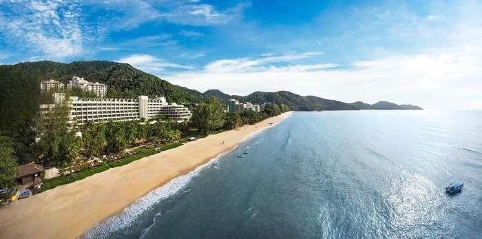 a 5-star beachside resort