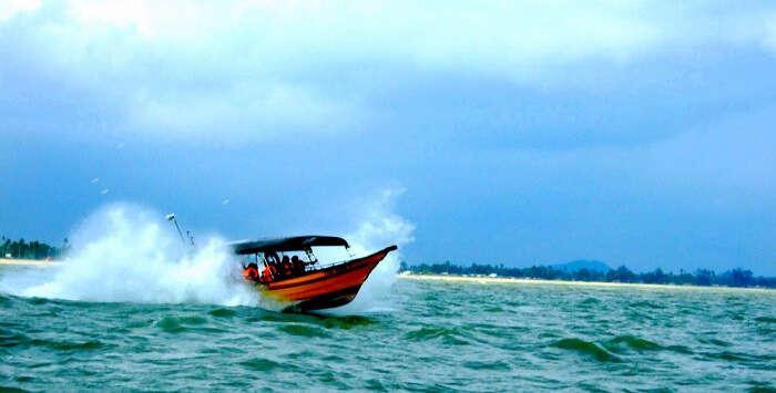 Speed Boat towards Perhentian Island