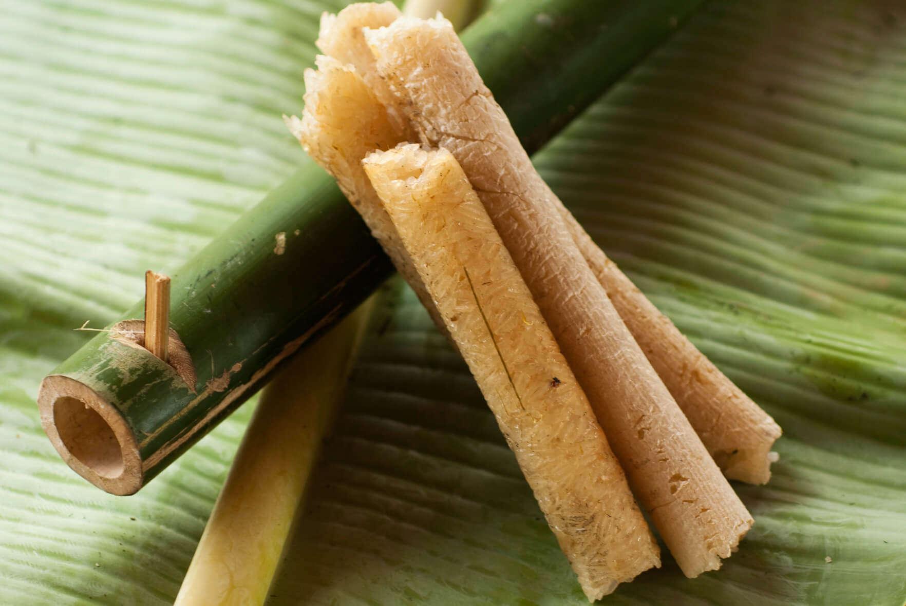 bamboo,rice,laos,laosfood