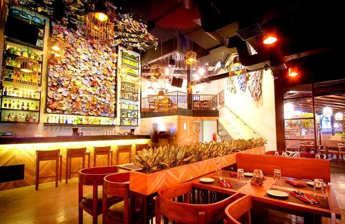 inside decor of Spice Mantra restaurant