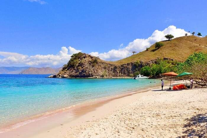 Komodo islands have pink sand