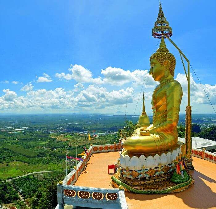 A view of Buddha Statue in Tiger Cave temple