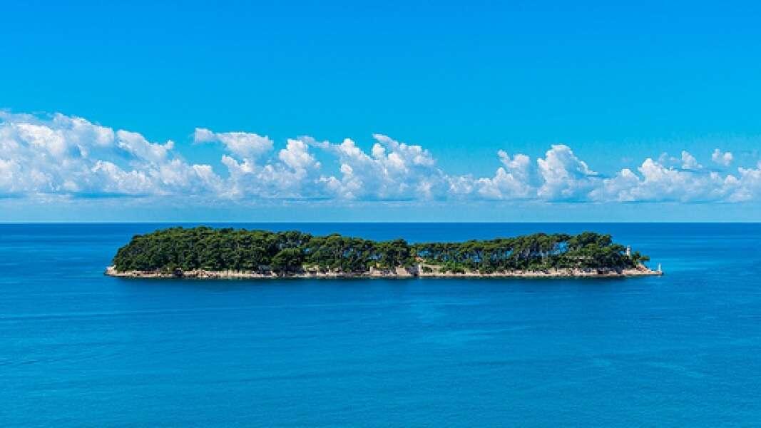 a small abandoned island