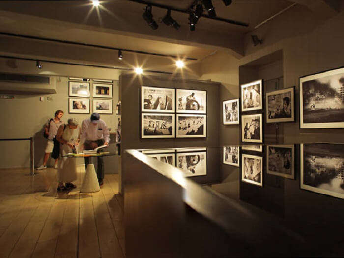 display of wartime pictures