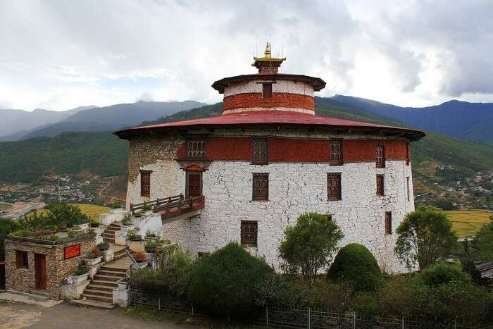 Watch the most beautiful sunset from the National Museum of Bhutan