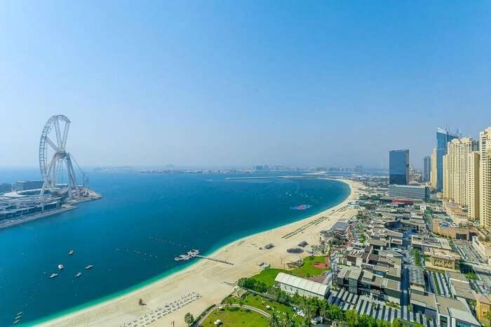 one of the best beach in abu dhabi
