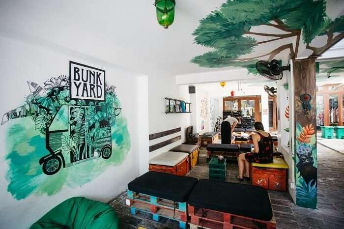 bunkyard hostel  lobby