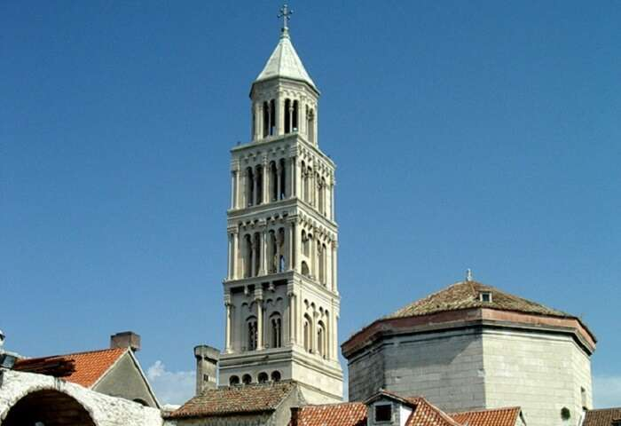 Campanile is the bell tower of Split