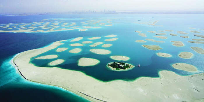 group of artificial islands