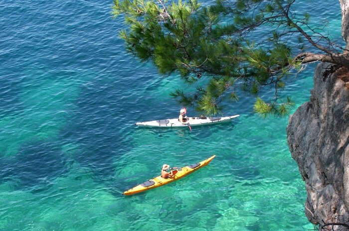 go for sea kayaking in Adriatic Sea