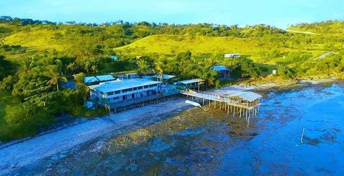resort has a private stretch of beach