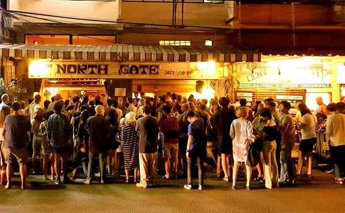 People standing outside Northgate jazz