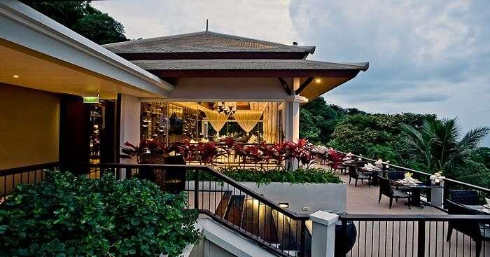 A beautiful beach side restaurant