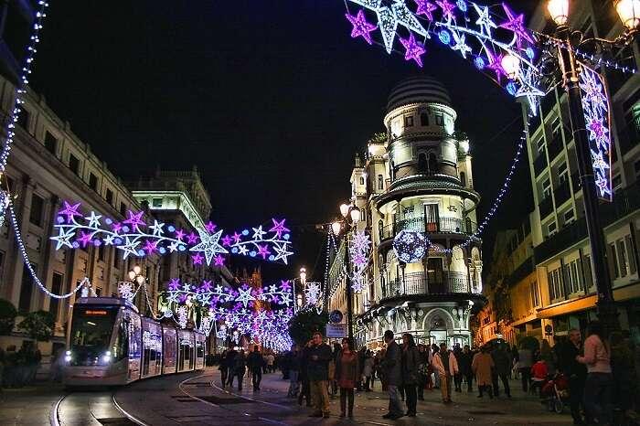 Christmas night in seville