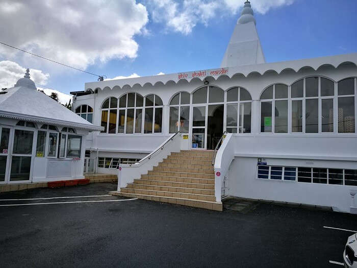 white view of the temple